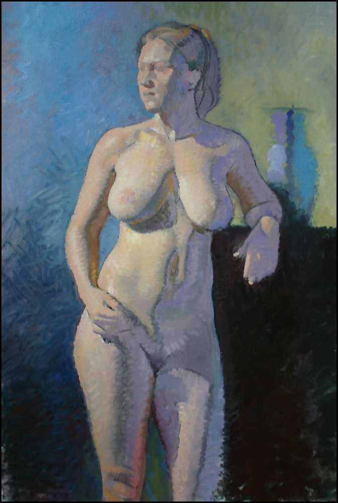 Female Nude, oil on canvas, 24x36 inches
