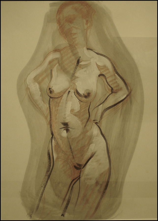 Nude Study, oil on paper, 18x24 inches