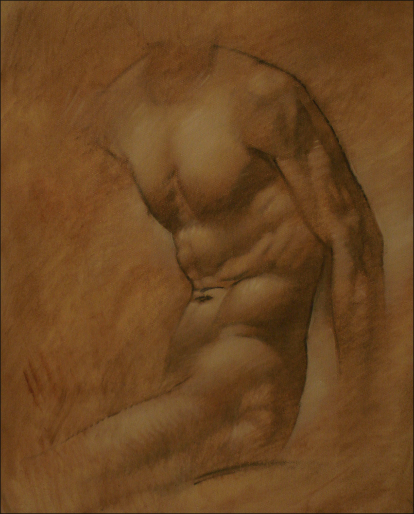 Male Torso, oil on canvas, 18x24 inches